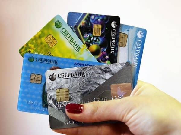 Основные виды карт сбербанка.