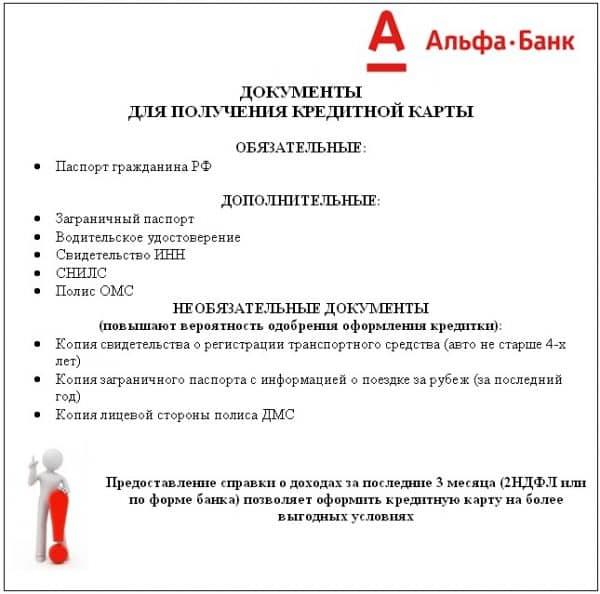 Как оформить кредитку в «Альфа-Банке»
