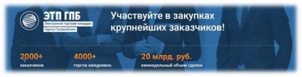 Положительные моменты сотрудничества электронной торговой площадки ГПБ
