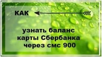 Проверка баланса карты Сбербанка через СМС по номеру 900