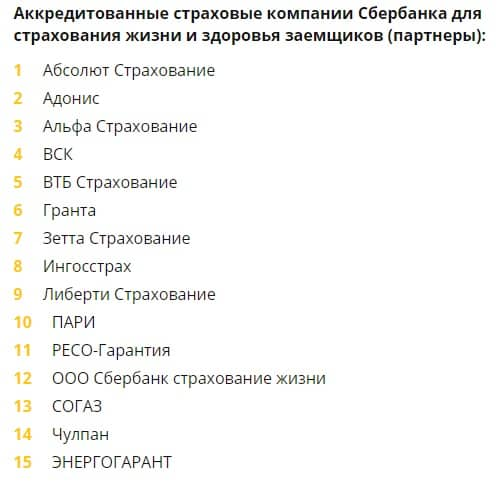Страхование жилья при ипотеке в «Сбербанке РФ» и аккредитованные страховые компании
