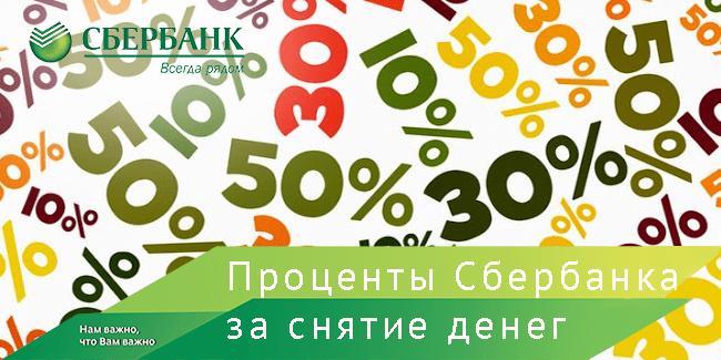 Комиссия за снятие с кредитной карты Сбербанка